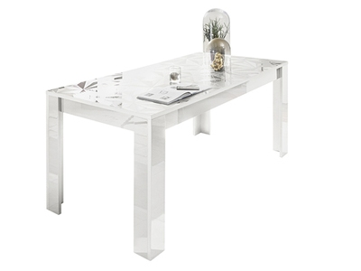 Table de repas Prisme blanc brillant
