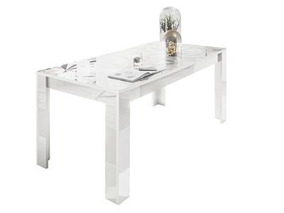 Table de repas Prisme blanc