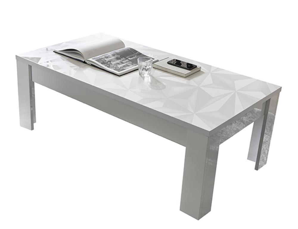 table basse prisme blanc brillant. Black Bedroom Furniture Sets. Home Design Ideas