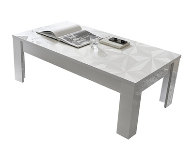 Table basse Prisme blanc brillant
