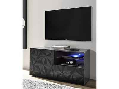 Meuble tv pm Prisme gris brillant