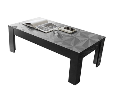 Table basse Prisme gris brillant