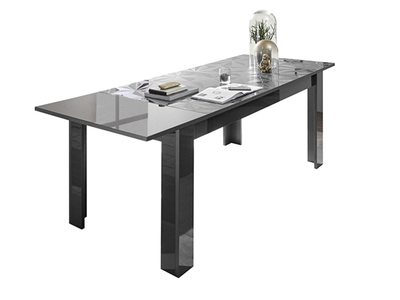 Table de repas extensible Prisme gris brillant
