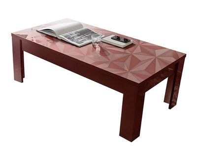 Table basse Prisme rouge brillant