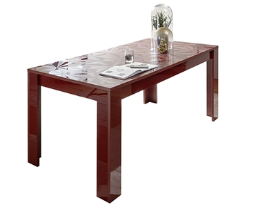 Table de repas Prisme rouge brillant
