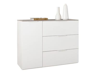 Commode 1 porte 3 tiroirs Galaverna