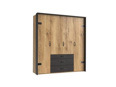 Armoire 4 portes+3 tiroirs