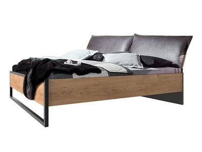 Lit avec tete de lit rembourrée Détroit