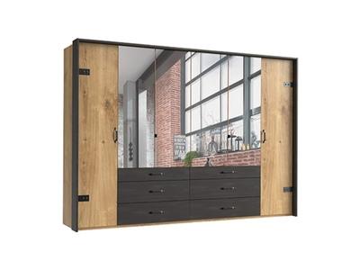 Armoire 6 portes dont 4 miroirs+6 tiroirs Détroit