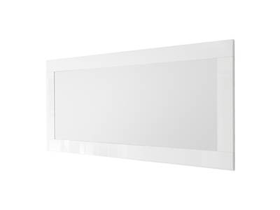 Miroir Ferrara blanc brillant/noyer