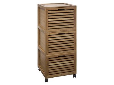 Meuble 3 tiroirs Sicela bambou