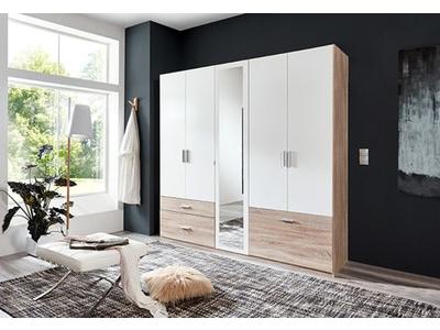 Armoire 5  portes battantes dont un miroir