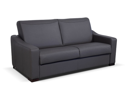 Canape Cuir 3 Places Convertible 160 C Smart Noir 0010