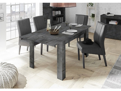 Table de repas extensible Ferrara oxyde noir