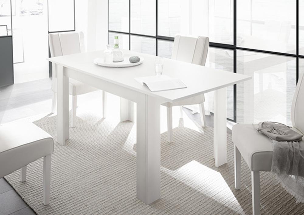Mat Table Repas De Extensible Rapallo Blanc Laqué sQrChdtx