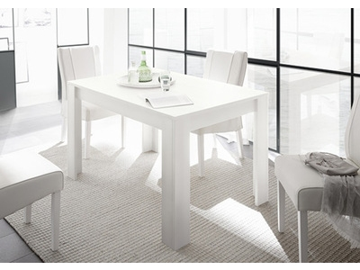 Table de repas Rapallo blanc laqué mat