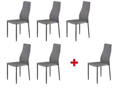Lot de 6 chaises Wendy