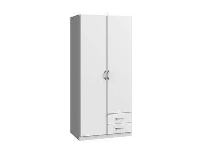 Armoire 2 portes 2 tiroirs Sprint blanc