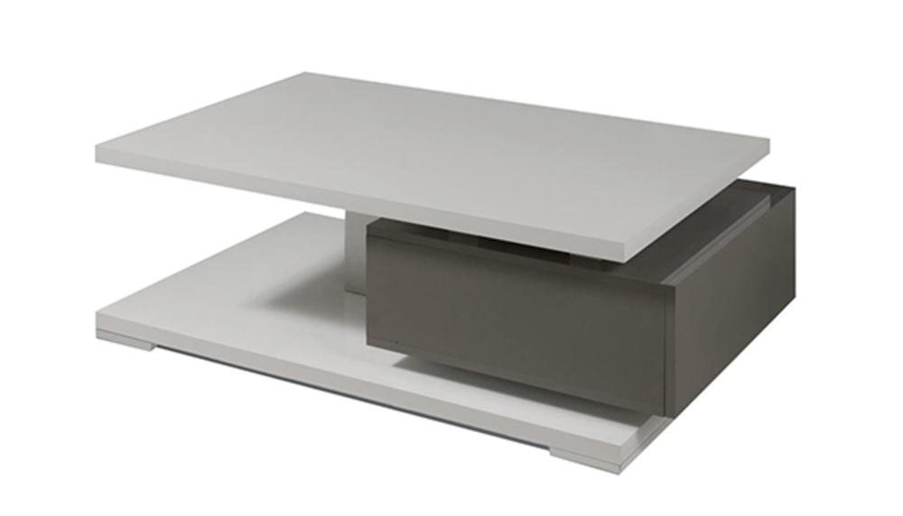 Table Basse 1 Tiroir Rimini Taupe Gris