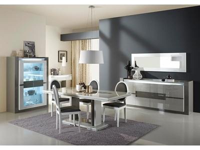 Table basse 1 tiroir Rimini taupe/gris