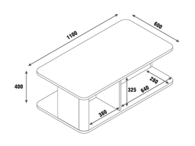 Table basse 2 portes Bellini laqué blanc/gris brillant