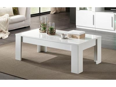 Table basse Greta laqué blanc