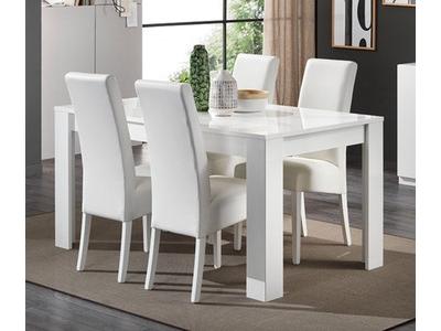 Table de repas Greta laqué blanc
