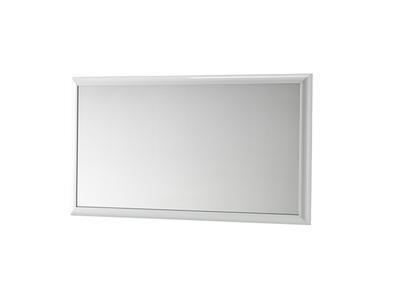 Miroir Luna laqué blanc brillant