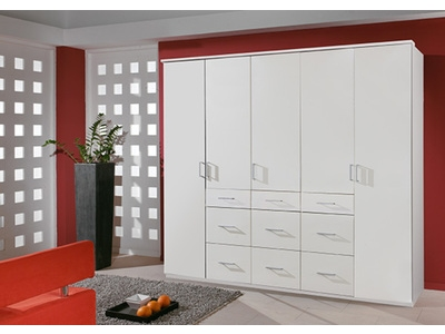 Armoire 5 portes 9 tiroirs