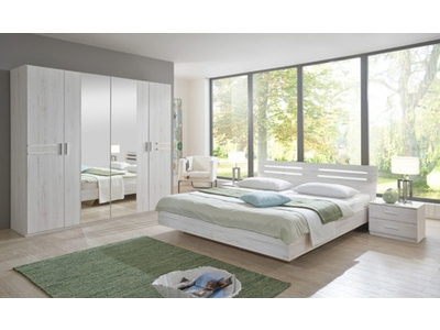 Pack armoire+ lit + 2 chevets Susan chene blanc