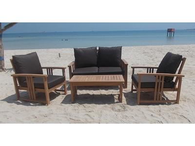 Canapé 2 places + 2 fauteuils + table basse