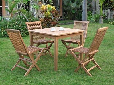 Ensemble table de repas  carrée + 4 chaises Surabaya