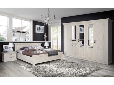 Commode 1 porte 4 tiroirs Kashmir chambre à coucher