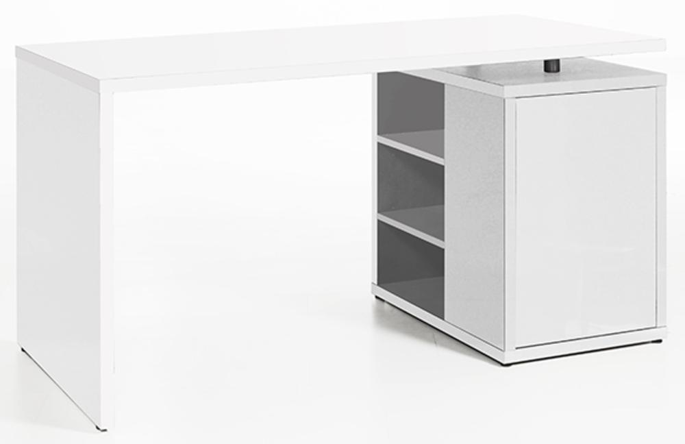 Bureau Core Laque Blanc Blanc Brillant