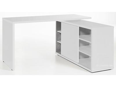 Bureau d'angle réversible Core laqué blanc