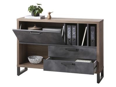Meuble 2 portes 3 tiroirs La fabrica meuble de bureau