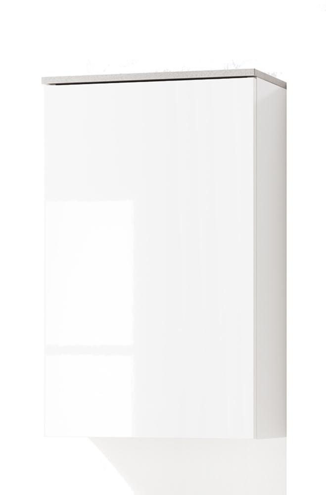 Meuble Haut 1 Porte Galaverna Salle De Bain Béton/blanc