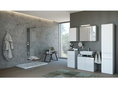 Meuble bas 1 porte 1 tiroir Galaverna salle de bain
