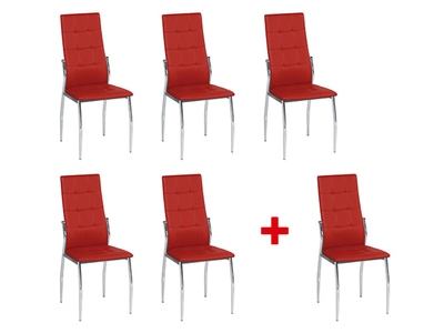 Lot de 5 chaises + 1 offerte Viletta