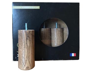 Jeux de 4 pieds cylindriques h12 cm