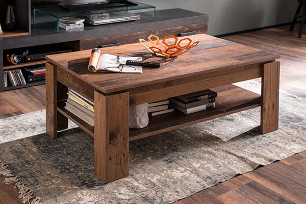 Admirable Table basse Indy Vieux bois WQ-33