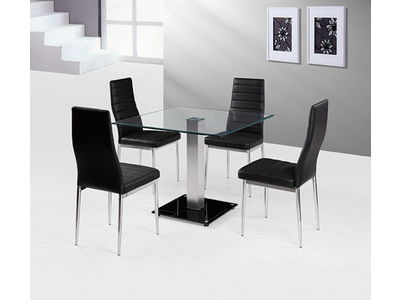 Ensemble table carrée + 4 chaises Nandez