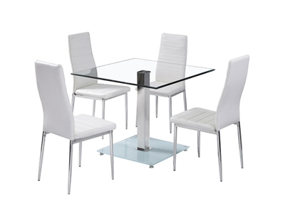 Ensemble table carrée + 4 chaises