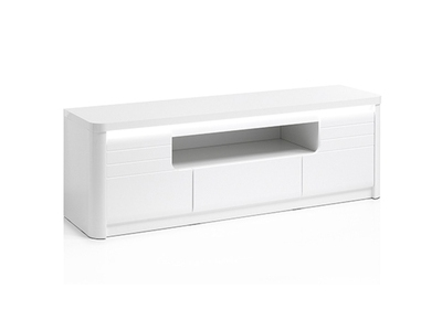 Meuble tv Bellini laqué blanc