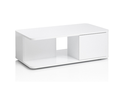 Table basse 2 portes Bellini laqué blanc