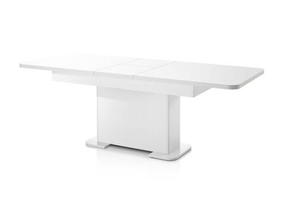 Table de repas extensible Bellini laqué blanc