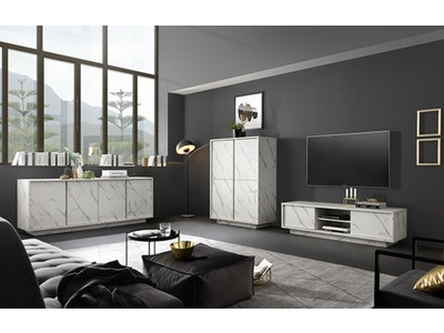 Meuble tv Ice marbre blanc