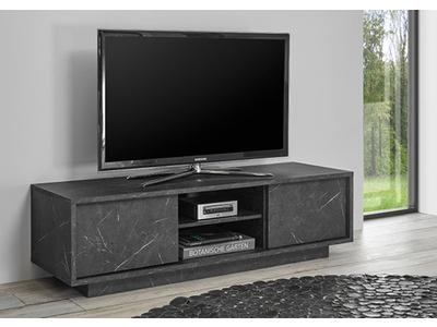 Meuble tv Ice marbre noir
