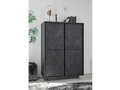 Rangement 4 portes Ice marbre noir