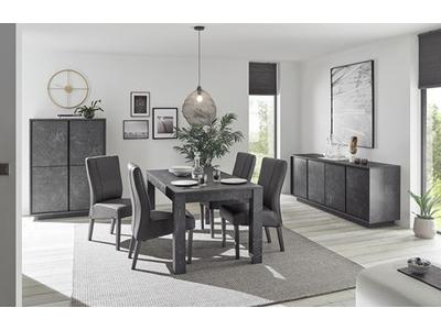 Table de repas extensible Ice marbre noir